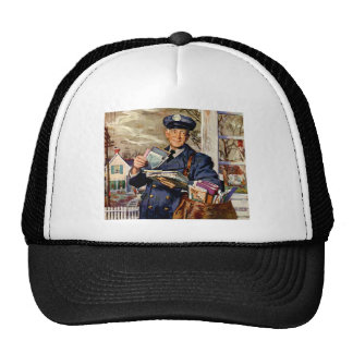 Vintage Business, Mailman Mail Delivering Letters Hat