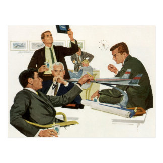 Vintage Business, Meeting with Airline Executives Postcard