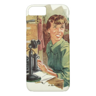 Vintage Business Office, CEO Boss and Secretary iPhone 7 Case