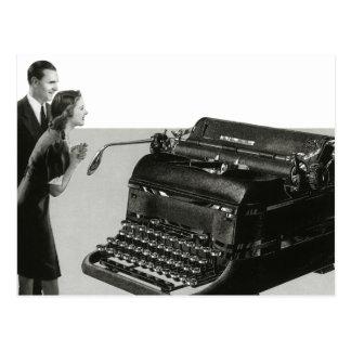 Vintage Business Office, Giant Manual Typewriter Postcard