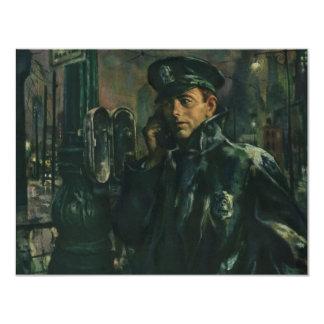 Vintage Business Policeman on Telephone Invitation