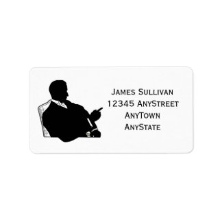 Vintage Business Professional Seated Silhouette Address Label