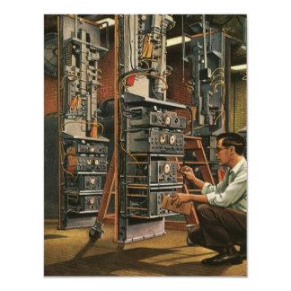 Vintage Business Radio Technician Fixing Equipment Custom Invites