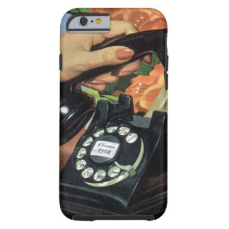 Vintage Business, Rotary Dial Telephone Tough iPhone 6 Case