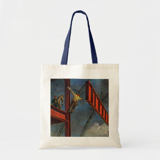 Vintage Business, Steel Construction Workers Budget Tote Bag