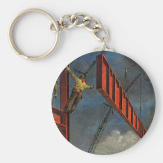 Vintage Business, Steel Construction Workers Keychains