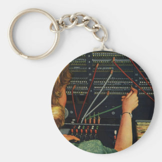 Vintage Business, Telephone Switchboard Operator Key Ring