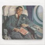 Vintage Business Traveller Reading on the