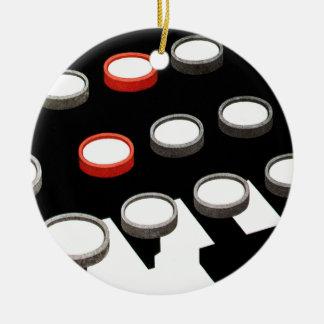 Vintage Business Typewriter Keyboard w Round Keys Christmas Tree Ornament