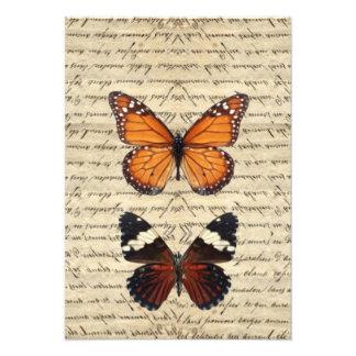 Vintage butterflies collection custom invitation