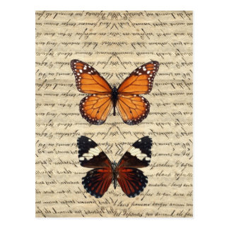 Vintage butterflies collection post cards