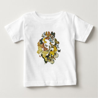 Vintage Butterflies Decoupage Baby T-Shirt