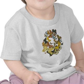 Vintage Butterflies Decoupage Shirt