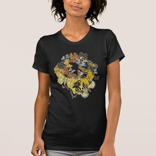 Vintage Butterflies Decoupage Tee Shirt
