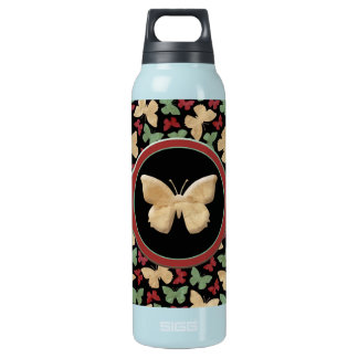 Vintage Butterflies Insulated Water Bottle