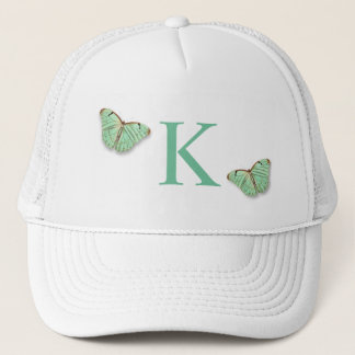 Vintage Butterflies with Any Monogram Trucker Hat