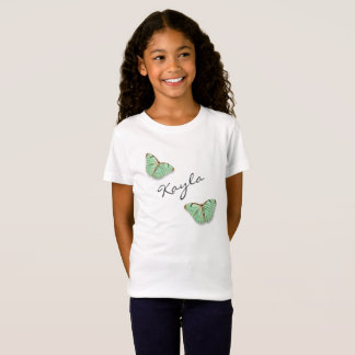 Vintage Butterflies with Any Name T-Shirt