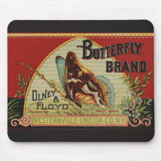 Vintage Butterfly Advertising Mouse Pad