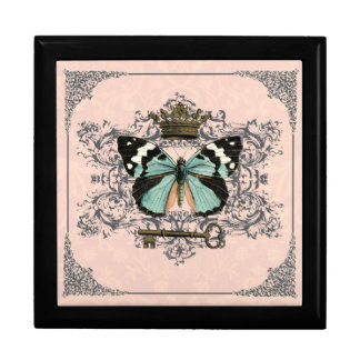 Vintage Butterfly and Crown gift box