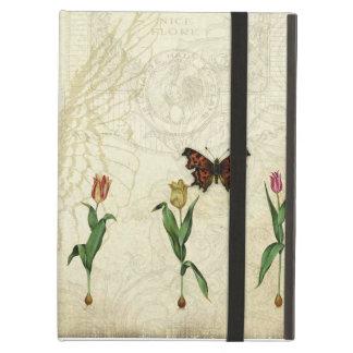 Vintage Butterfly Angel Wings Tulip Swirl Monogram iPad Air Cover