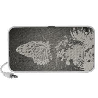 Vintage Butterfly Doodle Speakers