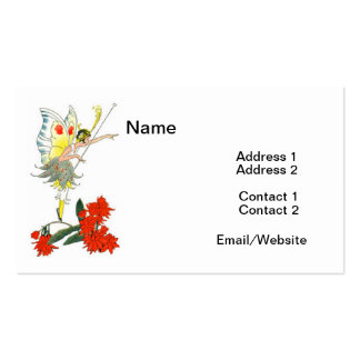 Vintage Butterfly Fairy & Flowers Pack Of Standard Business Cards
