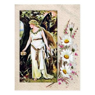 Vintage Butterfly Fairy Postcard
