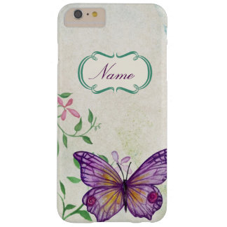 Vintage Butterfly Floral Barely There iPhone 6 Plus Case