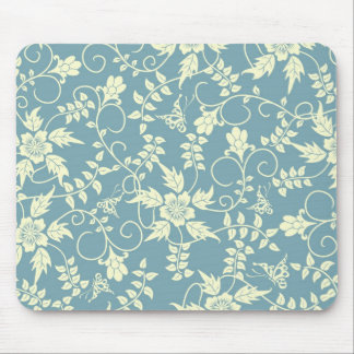 Vintage butterfly floral Mousepad