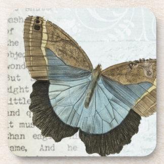 Vintage butterfly illustration coasters