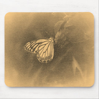 Vintage Butterfly on Flower - Mousepad