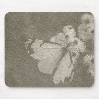 Vintage Butterfly Themed Mouse Pad