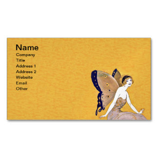 Vintage Butterfly Wings Fairy Fae Blond Hair Magnetic Business Card