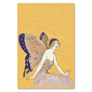Vintage Butterfly Wings Fairy Fae Blond Hair Tissue Paper
