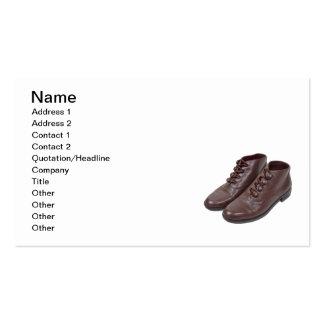 Vintage Button Shoes Business Card Template