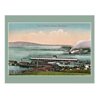 Vintage c 1910 View of Harbor Everett WA Postcard