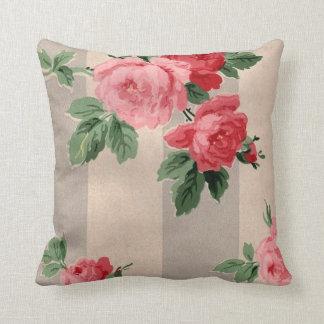 Vintage Cabbage Rose Wallpaper Cushion