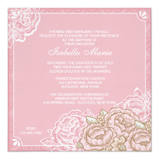 Vintage Cabbage Roses Invitation