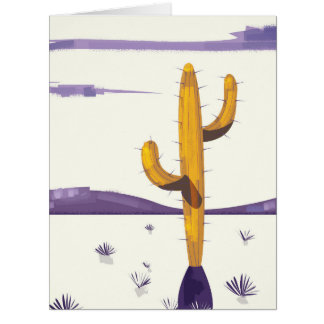 Vintage Cactus in the desert Card