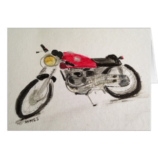 Vintage Cafe Racer Motorcycle Notecard