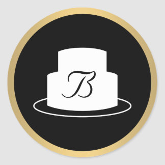 Vintage Cake Emblem Logo Bakery II Sticker
