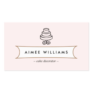 VINTAGE CAKE LOGO II for Bakery, Cafe, Catering Pack Of Standard Business Cards
