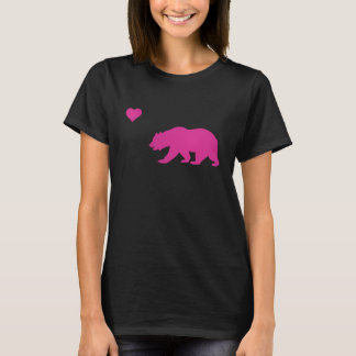 Vintage California Love Hot Pink Bear & Heart T-Shirt