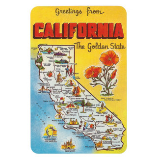 Vintage California Rectangular Photo Magnet