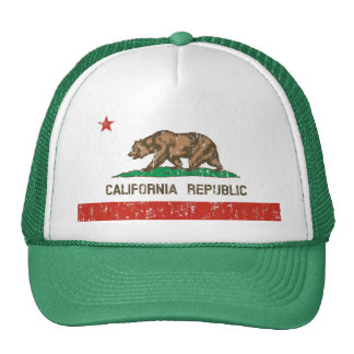Vintage California Republic State Flag Trucker Hat