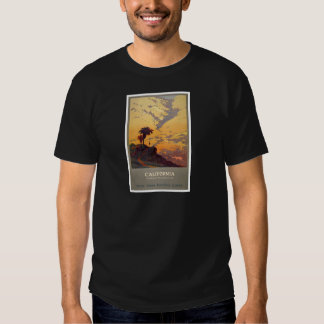 Vintage California Tourism Poster Scene Shirts