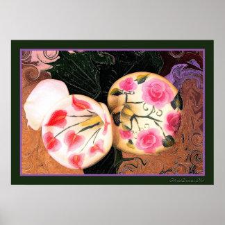 Vintage Calla Lilies Poster