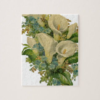 Vintage Calla Lillies Flower Jigsaw Puzzle