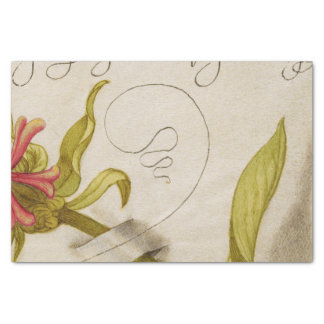 Vintage Calligraphy Painting Tissue Paper