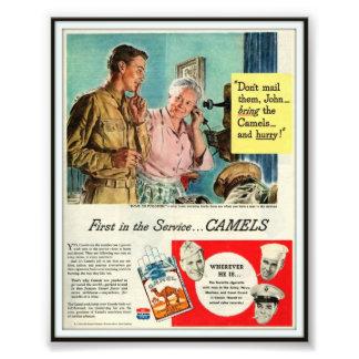 Vintage Camel Cigarette Advertising 1944 Photo